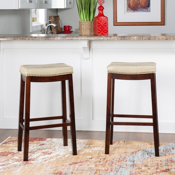Copper Grove Ghindesti Backless Saddle-seat Bar Stool. Opens flyout.