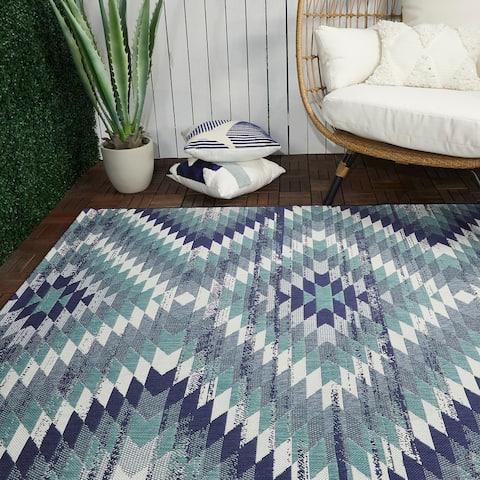 Anita Modern Aztec Trellis Indoor/Outdoor Area Rug