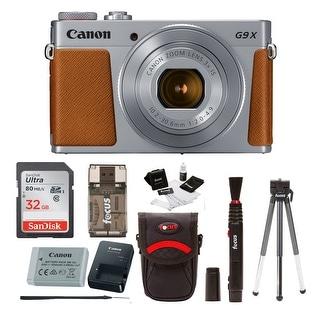 Canon Powershot G9 X Mark II Digital Camera (Silver) with 32GB Bundle