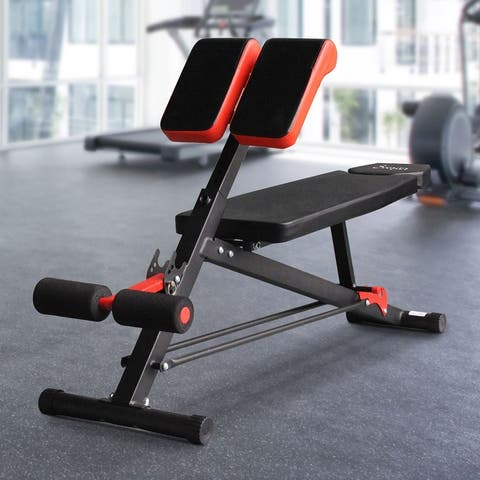 Soozier Adjustable Hyper Extension Multifunction Workout Bench