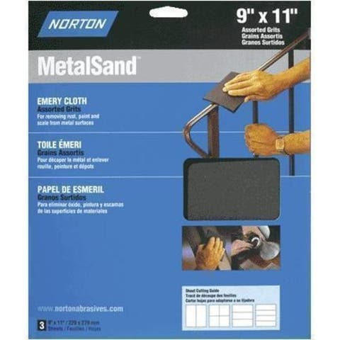 "Norton 47820 Medium Grit Emery Cloth 9"" x 11"""