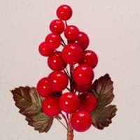 """Club Pack of 96 Red Artificial Berry Grape Cluster Christmas Picks 5.5"""""""