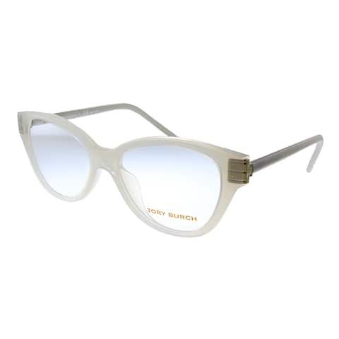 Tory Burch TY 4008U 1145 50mm Womens Milky Ivory Frame Eyeglasses 50mm
