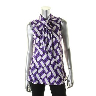 Nine West Womens Casual Top Printed Sleeveless - l
