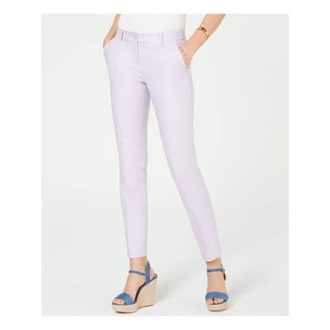 MICHAEL KORS Womens Purple Skinny Pants Size 16