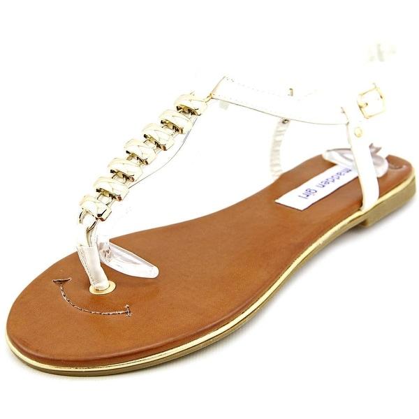 Madden Girl Hannah Women Open-Toe Synthetic White Slingback Sandal