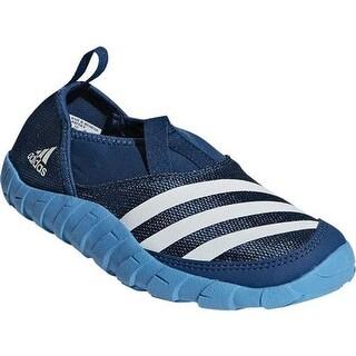 adidas Children's Jawpaw Slip On Water Shoe Legend Marine/Chalk White/Shock Cyan