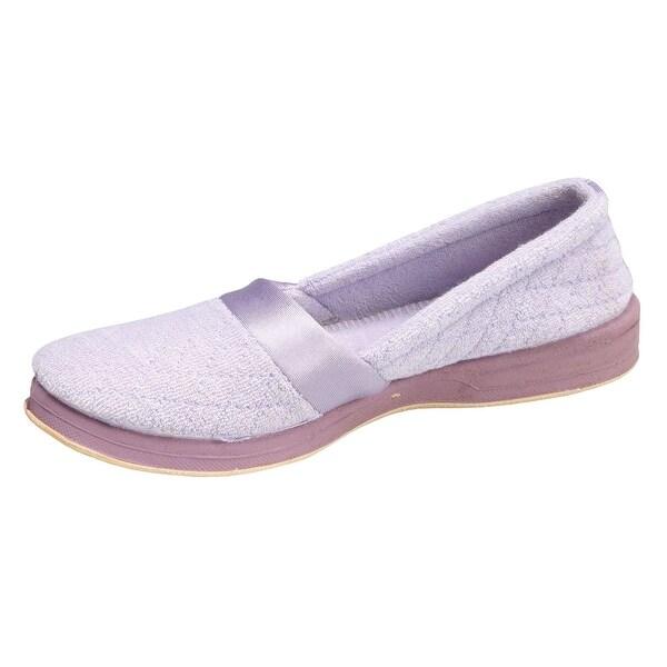 Women's Foamtreads All Season Slip On Slippers with Rubber Sole - Wide - Size 10 - Mauve