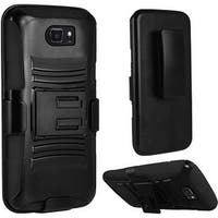 Insten Hard PC/ Silicone Dual Layer Hybrid Case Cover with Holster For Samsung Galaxy S7 Active