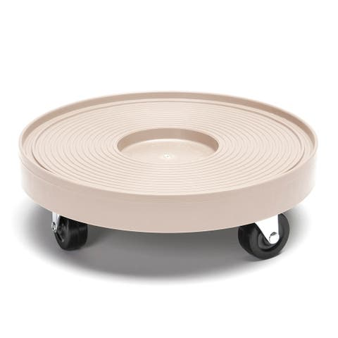 Gray Mist Plastic 12-inch Plant Dolly without Hole