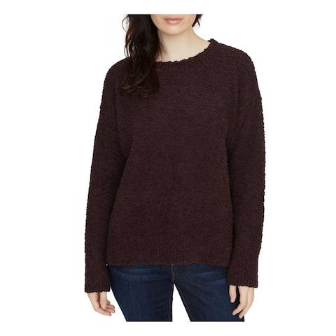 SANCTUARY Womens Purple Short Sleeve Crew Neck Sweater Size XS