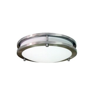 HomeSelects International 6102 Saturn 2 Light Flush Mount Indoor Ceiling Fixture - Brushed nickel
