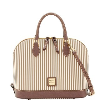 Dooney & Bourke DB Stripe Zip Zip Satchel (Introduced by Dooney & Bourke at $228 in Jun 2017) - Taupe