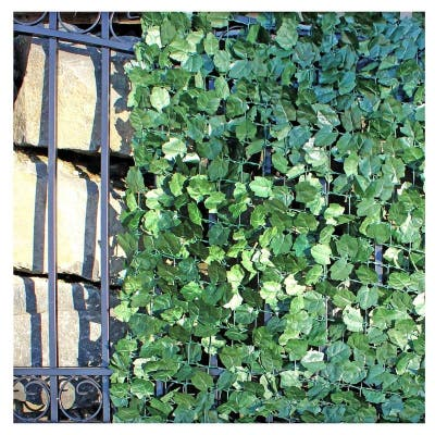 """ALEKO 94"""" X 39"""" Faux Ivy Privacy Artificial Fence Screen Hedge Wall"""