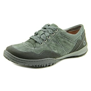 Merrell Albany Lace Women Round Toe Suede Black Hiking Shoe