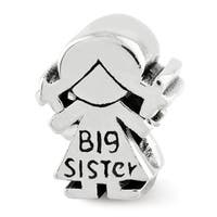Sterling Silver Reflections Kids Big Sister Bead (4mm Diameter Hole)