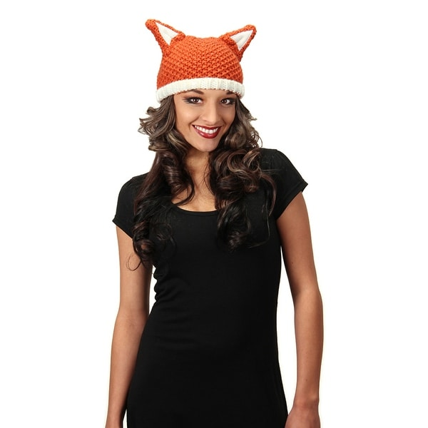 Sly Fox Knit Beanie Costume Hat