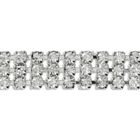 "Triple Row Rhinestone Chain Trim 3/8""X5yd-Crystal"