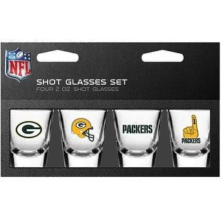 Link to Green Bay Packers 4-Pack Shot Glasses Set Similar Items in Glasses & Barware