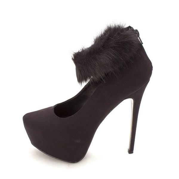 ShoeDazzle Womens Farah Closed Toe Ankle Strap Platform Pumps - 8.5