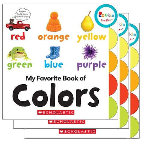 (3 Ea) Board Book My Fav Book Of Colors Rookie Toddler