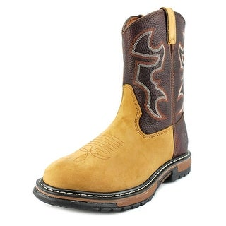 Rocky Branson Roper Jr. Youth Round Toe Leather Brown Western Boot