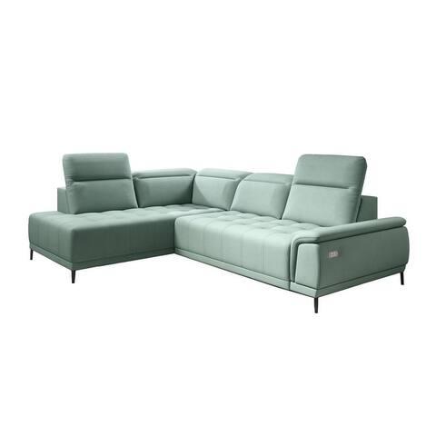 ALVARO L Leather Sectional Sofa