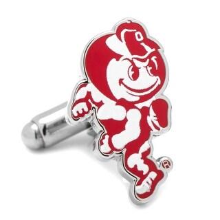 Ohio State University Brutus Cufflinks - Red