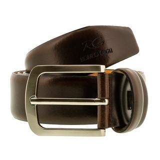 Romeo Gigli C855/35S T.MORO Dark Brown Leather Adjustable Mens Belt