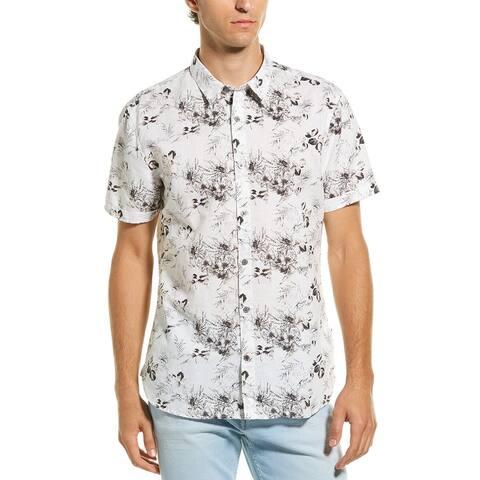 John Varvatos Star U.S.A. Jasper Woven Shirt - 110 CHALK