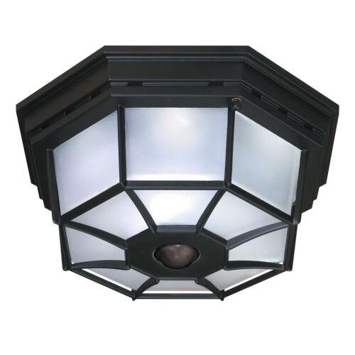 Heath Zenith HZ-4300 4 Light 360 Degree Motion Activated Outdoor Flush Mount Ceiling Fixture