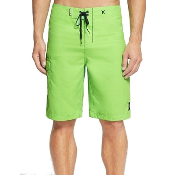 a210507759c Shop Hurley NEW Green Neon Mens Size 30 Lace Up Board Shorts Swimwear -  Free Shipping On Orders Over  45 - Overstock - 17979102