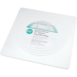 """Decorator Preferred Separator Plate-10"""" Square - 10"""" square"""
