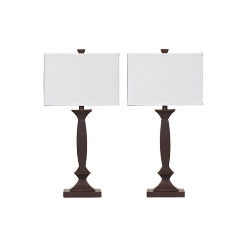 Laine Bronze Finish Poly Table Lamp L292184 - Set of 2 Laine Bronze Finish Poly Table Lamp
