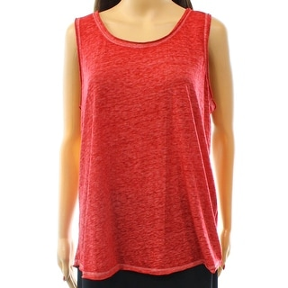 INC NEW Red Glazed Berry Women's Size Small S Scoop Necl Tank Top