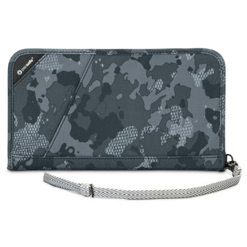 Pacsafe 10566802-Grey Camo RFIDsafe Blocking Travel Organiser w/Detachable Strap