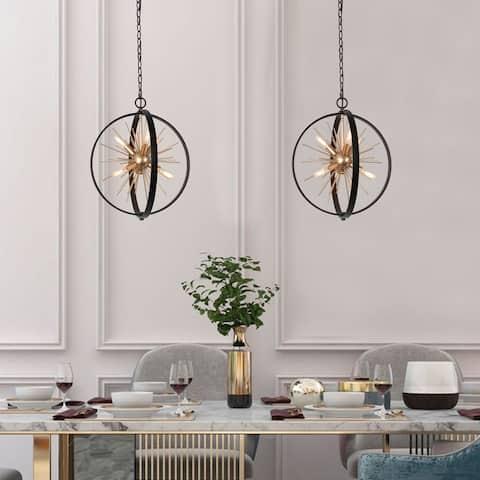 """Mid-century Modern 6-light Sputnik Pendant for Living/ Dining Room - D18""""x H20.5"""""""