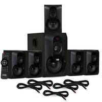 Acoustic Audio AA5301 Bluetooth Powered 5.1 Speaker System Home & 5 Ext. Cables