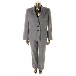 Evan Picone Womens City Chic 2PC Pinstripe Pant Suit - 10