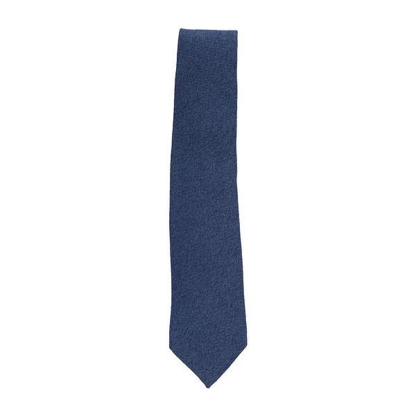 lowest price 2dfc8 b9c4f Isaia Napoli Men's Navy Blue Solid 100% Cashmere 7 Fold Classic Tie - One  Size