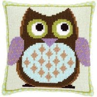 "16""X16"" - Mister Owl Cushion Cross Stitch Kit"