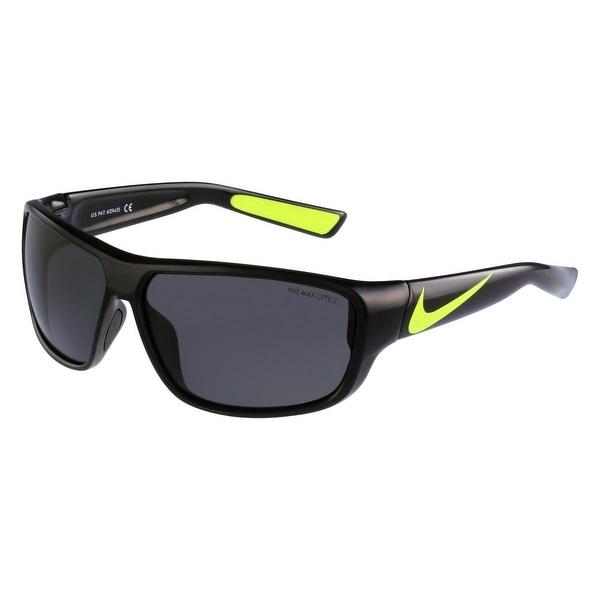 Nike Mens Mercurial 8.0 Sport Sunglasses Max Optics Rectangular - Black/Volt - o/s