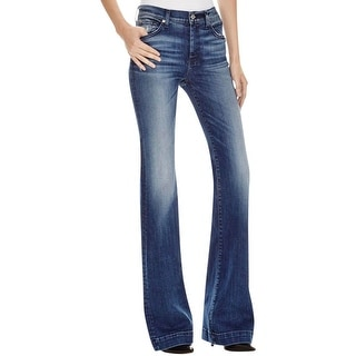 7 For All Mankind Womens Extreme Flare Jeans Denim Original Fit