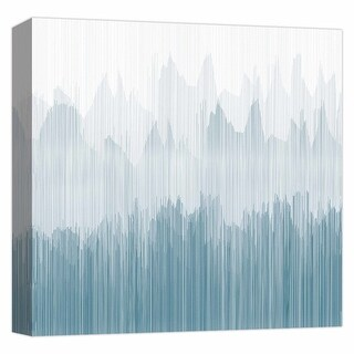 "PTM Images 9-124681  PTM Canvas Collection 12"" x 12"" - ""Teal Streaks 2"" Giclee Abstract Art Print on Canvas"