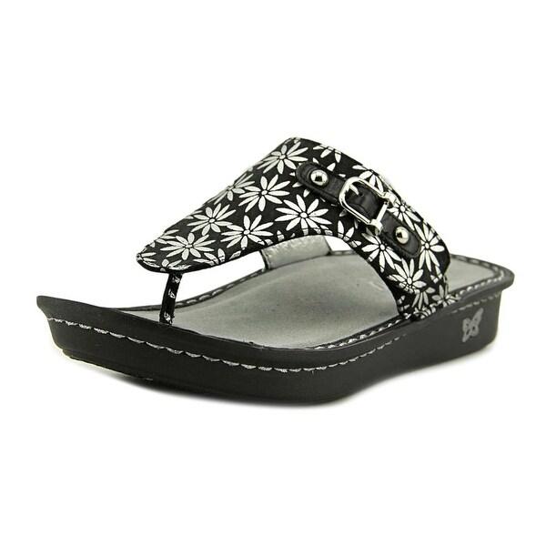 Shop Alegria Vanessa Women Open Toe Leather Silver Flip -6751