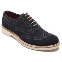 Alexander Men's Jargo Suede Leather Brogue Oxfords Shoes Blue