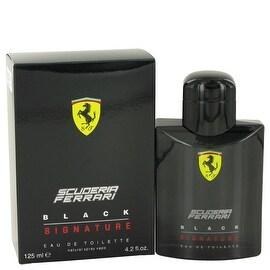 Ferrari Scuderia Black Signature by Ferrari Eau De Toilette Spray 4.2 oz - Men
