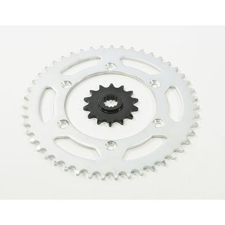 14 Tooth Front and 47 Tooth Rear Silver Sprocket Suzuki DR-Z250 2001 - 2007