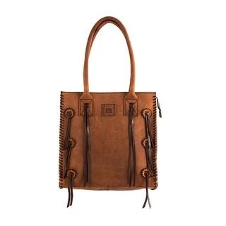 StS Ranchwear Western Womens Handbag Chaps Tote Leather Brown - 14 t x 14w x 7 d