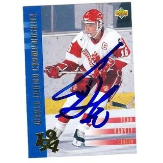 Autograph Warehouse 24972 Todd Harvey Autographed Hockey Card Team Usa
